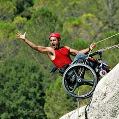 Rock climbing in a wheelchair? Who knew? WHAT limits? Mountain Climbing, Rock Climbing, Adaptive Sports, Escalade, Mountaineering, Climbers, Bouldering, Live Life, Pictures