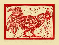 Rooster by Lisa Lin, via Behance