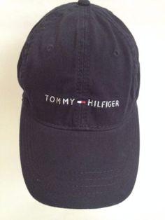 Tommy Hilfiger Adjustable Unisex Baseball Cap Signature Flag Written Logo 8f1db69a6bf