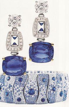 sapphire and diamond earrings...