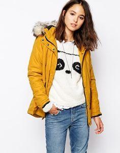 Enlarge Only Faux Fur Hooded Parka