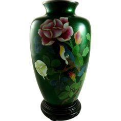 Japanese Foil Cloisonne Vase