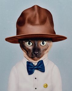 This dapper, bowtie-and-hat-clad cat pays homage to one of the happiest hip-hop musicians out there