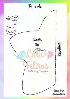 Estrela feltro molde - #estrela #feltro #molde