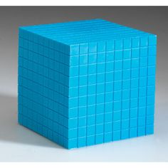 Plastic Base Ten Components: 10 x 10 x 10 CM Cube - Base Ten & Place Value - Math - Manipulatives - Shop by Category - Teachers - Learning Resources®