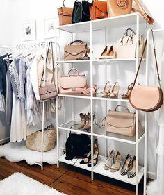 New storage closet organization diy dressing rooms 46 Ideas Bag Closet, Closet Space, Diy Dressing, Dressing Rooms, Closet Bedroom, Bedroom Decor, Bathroom Closet, Bedroom Ideas, Best Closet Organization