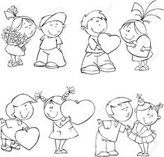 6344760-vector-set-of-funny-valentine-kids-kids-love-cartoon.jpg (1300×1244)
