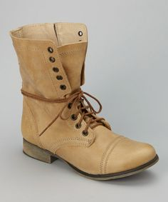 Camel Troopa Leather Boot #zulily #zulilyfinds