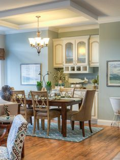 The Malibu Dining Room - 1,800 sf, 3 bedrooms, 2 baths - Available from Palm Harbor Homes in Plant City, Florida - Picture and Videos of Manufactured and Modular Home Designs | Palm Harbor Homes
