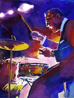 """David Lloyd Glover, """"Big Band Ray"""" - Many of Hollywood's A-list celebrities and recording stars are among his top collectors. For his many galleries, Glover has created images ranging from Impressionist landscapes to Iconic pop art images of Jazz artists and Rock stars.  David Lloyd Glover has a 25-year international reputation exhibiting in major galleries in the US, Canada, Mexico, and Japan. Since 1986 he has sold over 2,000 original paintings."""