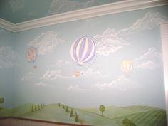 Hot Air Balloon Child Mural