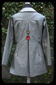 "Spring coat using denim & cotton fabrics by ""Eating The Goober"""