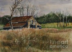 Barn Off The Road   Artist  Janet Felts   Medium  Painting - Watercolor On Paper   Description  An old barn in need of repair sits just off the road in rural Tennessee.