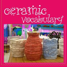 ceramics-vocabulary by mszimmerartteacher via Slideshare THIS ROCKS! Pottery Lessons, Pottery Classes, Elementary Art Rooms, Art Lessons Elementary, Sculpture Lessons, Sculpture Clay, Sculpture Ideas, Sculptures, Ceramics Projects