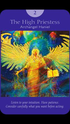 High Priestess from Angel Tarot by Doreen Virtue and Radleigh Valentine.