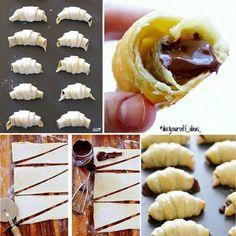 Nutella-Blätterteig-Hörnchen
