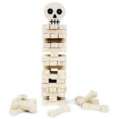 Jenga with bones not blocks