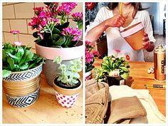 Denim flower pots! #denim #blue #upcycle #denimcrafts #repurpose #diy