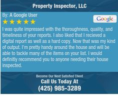 I was quite impressed with the thoroughness, quality, and timeliness of your reports.   I...