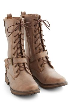 Terrain and Simple Boot. Whether youre trekking atop rocky roads or pine-lined paths, youll stay moving in style while sporting these taupe boots! #tan #modcloth