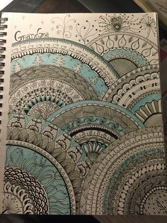 I created this on watercolor paper with Sakura pens for my own grandmother.