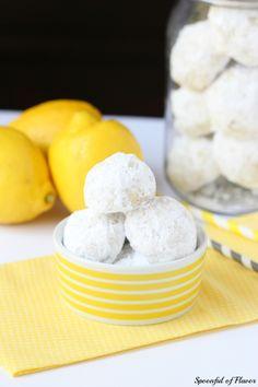 Lemon Tea Cookies - Spoonful of Flavor
