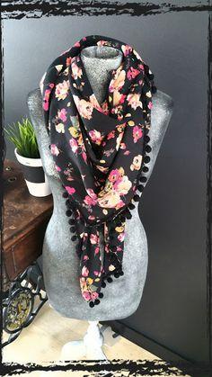 Just Made by Mie: Fleurige sjaal met tutorial