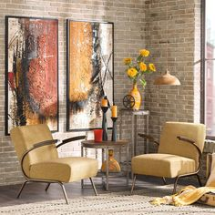 Ink+ivy Melrose Yellow Club Lounge Arm Chair Ink and Ivy (Metal) Mid Century Modern Living Room, New Living Room, Living Room Chairs, Dining Chairs, Thing 1, End Tables, Mid-century Modern, Rustic Modern, Modern Industrial