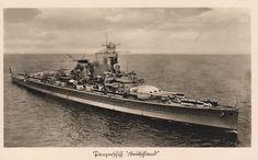"""Kriegsmarine panzerschiff Deutschland / German """"pocket battleship"""" heavy cruiser Germany"""