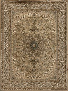 Traditional Soft Beige Area Rug 8x11 And 6x8   Discount Rugs USA 4018beige