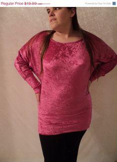 sale November SAMPLE SALE from designer MJCreation  fushia tunic shirt top Size M $16.99