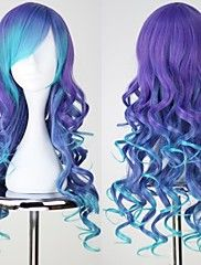 Fei-show Medium Wavy Wig Synthetic Heat Resistant Fiber Inclined Bang Cos-play Hair Costume Peruca Party Picture Color Hairpiece Exquisite Craftsmanship; Hair Extensions & Wigs