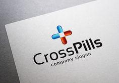 Cross Pills Logo by EmilGuseinov on @creativemarket