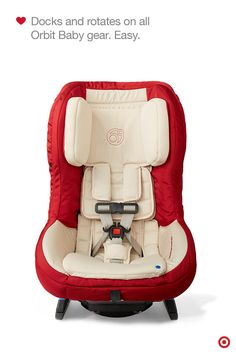The Orbit Baby G3 Convertible Car Seat is the first-ever rotating car seat that easily docks onto the Orbit stroller and rocker. This Baby Registry must-have features an innovative design of deeper side wings made of energy-absorbing EPP foam to provide maximum side-impact protection and help cocoon Baby from crash forces. Genius.