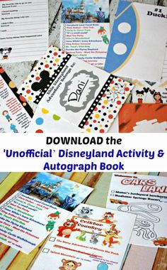 Making Memories at Disneyland with the 'Unofficial' Disneyland Activity & Autograph Book