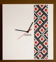 Clocks designed by project.ZULU, inspired from the traditional embroidery from Bucovina - Romania Traditional Art, Embroidery Stitches, Cool Stuff, My Favorite Things, Paper, Projects, Zulu, Inspiration, Clocks