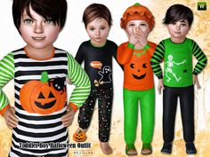 Fashionable Halloween Outfit for toddler boys. Found in TSR Category 'Sims 3 Male Clothing' Casual Outfits For Girls, Toddler Boy Outfits, Toddler Boys, Kids Outfits, Toddler Stuff, 3 Kids, Sims 3 Cc Clothes, Sims 4 Cc Kids Clothing, Halloween Fashion