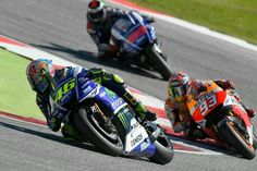 Rossi, Marquez, and Loren-tho. The Doctor takes the win.