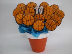 basketball cookie bouquet | basketball cookie bouquet | Flickr - Photo Sharing!