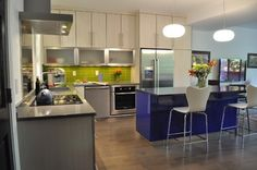 Colorful Condo - contemporary - kitchen - denver - by RED PEPPER KITCHEN+BATH