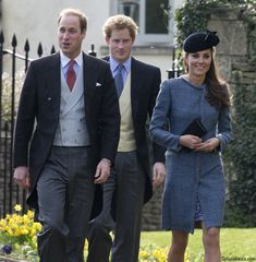 William, Kate and Harry all attended the wedding of Lucy Meade and Charlie Budgett in Marshfield, Gloucestershire, about two hours west of L...