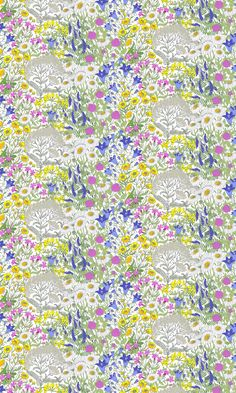 Ahomaa Fabric – Vallila Online Store Summer Sale, Betta, Floral Design, Delicate, Koti, Quilts, Flowers, Fabric, Pattern