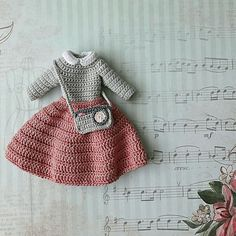 1 million+ Stunning Free Images to Use Anywhere Knitting Dolls Clothes, Crochet Doll Clothes, Knitted Dolls, Crochet Dress Outfits, Crochet Doll Dress, Love Crochet, Diy Crochet, Crochet Baby, Barbie Patterns