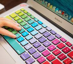 Carcasas y pegatinas - Macbook sticker keyboard, macbook decal keyboard - hecho a mano por namys en DaWanda
