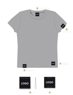 Woven label placement guide for branding mens t-shirt garment. Clothing Logo Design, Apparel Design, T Shirt Weaving, T Shirt Label, Mode Man, Clothing Packaging, 2 Logo, Clothing Labels, Women's Clothing