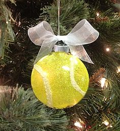 Sparkling Tennis Ball Ornament