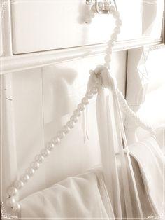 #PinItTransformIt - A pretty pearl hanger to brighten up the wardrobe.