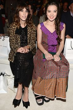 Alexa Chung and Hailee Steinfeld are sitting pretty at the Marc Jacobs Spring 2013 fashion show during Mercedes-Benz Fashion Week on September 10, 2012 in New York City.