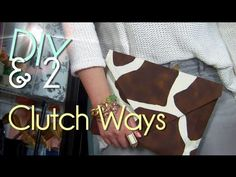 Make 2 No Sew Clutch | Easy & Fast Purse/Case/Envelope