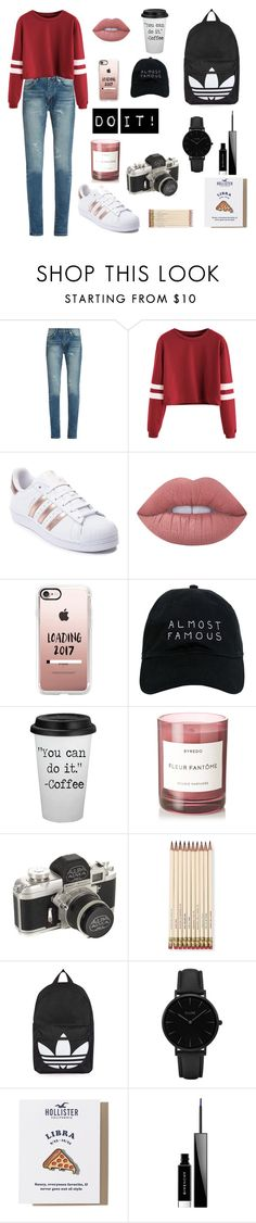 """do it"" by lisa-sobyanina ❤ liked on Polyvore featuring Yves Saint Laurent, adidas, Lime Crime, Casetify, Nasaseasons, Byredo, Kate Spade, Topshop, CLUSE and Hollister Co."